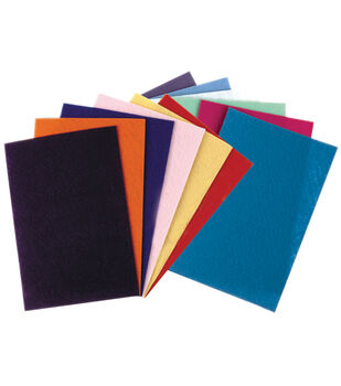 "Felt Sheets 9""X12"" 12/Pkg-Assorted Colors"