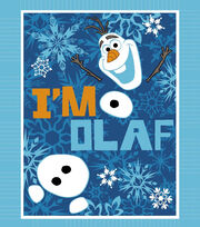 Disney Frozen Olaf 48'' No Sew Fleece Throw, , hi-res