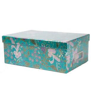 DCWV Violet Leaf Floral Storage Box