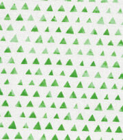 Keepsake Calico™ Cotton Fabric-Green Shaded Triangle, , hi-res