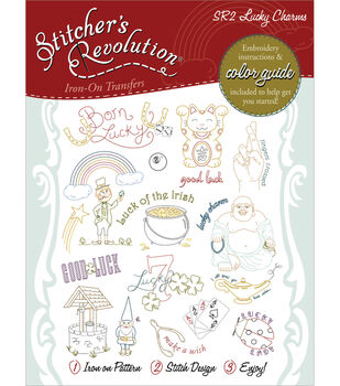 Aunt Martha's Sticher's Revolution Iron-On Transfers-Lucky Charms
