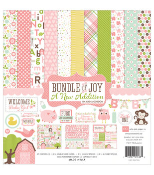 Echo Park Paper Company Bundle Of Joy Baby Girl Scrapbooking Kit