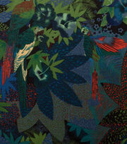 Alexander Henry Cotton Fabric-Kasuku Jungle Night, , hi-res