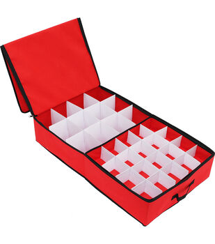 52ct Ornament Storage Box-Red