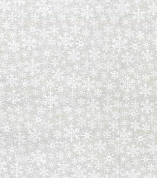 Noel Collection-Flakes Tonal White