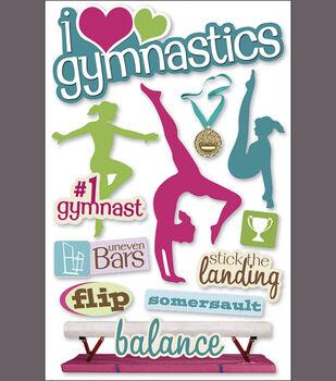 Paper House 3-D Sticker-Gymnastics