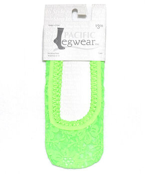 Lace No Show Socks-Neon Green