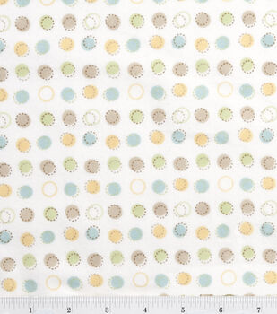 Nursery Flannel Fabric Oh Baby Stitch Dot