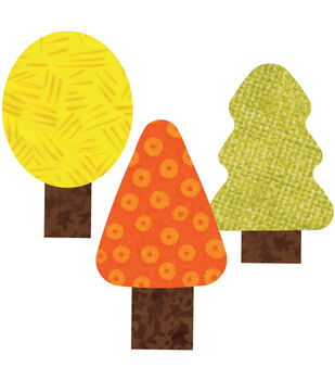 "GO! This & That Fabric Cutting Dies-Trees 2""X3"" By Reiko Kato"