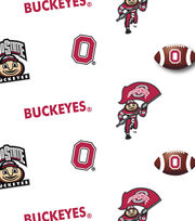 Ohio State University NCAA All-over Cotton Fabric, , hi-res
