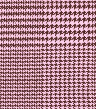 Snuggle Flannel Fabric-Houndstooth Pink