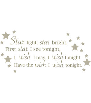 "Wall Pops Star Light Star Bright Wall Phrase Decals, 48.75"" x 21.5"""