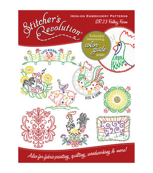 Stitcher's Revolution Iron-On Transfers-Folksy Farm
