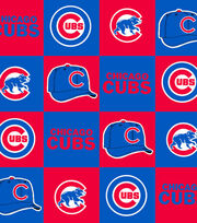 Chicago Cubs MLB Block Fleece Fabric, , hi-res