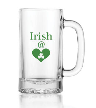 St. Patrick's Day Irish At Heart Glass