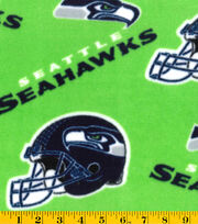 Seattle Seahawks NFL Green Fleece Fabric by Fabric Traditions, , hi-res