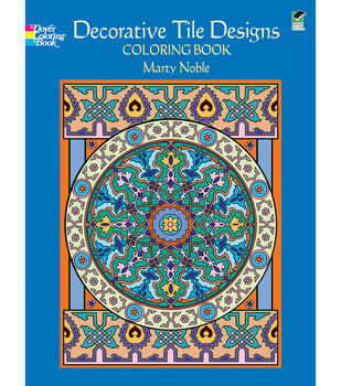 Adult Coloring Book-Dover Publications Decorative Tile Designs