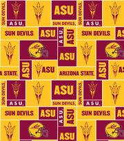 Arizona State NCAA Block Fleece Fabric, , hi-res
