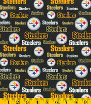 Pittsburgh Steelers NFL Glitter Cotton Fabric by Fabric Traditions, , hi-res