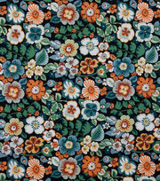 Alexander Henry Cotton Fabric-Rennie Black Ground, , hi-res