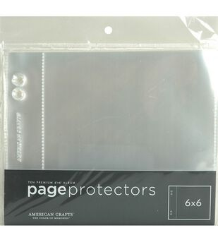 """Page Protectors 6""""X6"""" Top Loading"""
