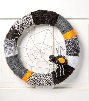 How To Make A Yarn Wrapped Spider Wreath