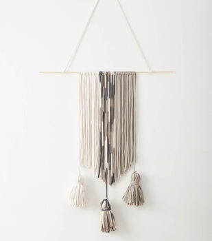 How To Make A Fringe and Tassel Wall Hanging