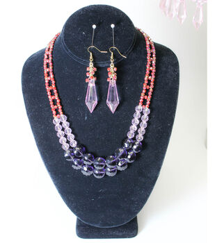 Colorblock Necklace and Earrings