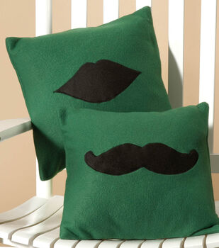 Fleece Moustache or Lip Applique Pillow