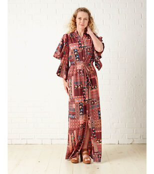 Maxi Dress with Flared Sleeve