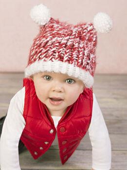 Baby Hat With Pom Poms
