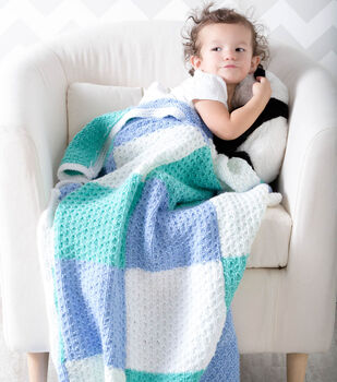 How To Make A Color Block Baby Blanket