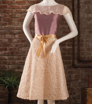 Silk Flowing Blouse with Special Occasion Fabric Wrap Skirt