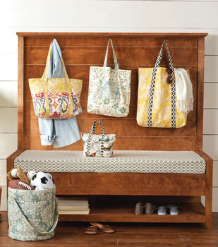 Totes & Pillows Using Home Decor Fabric