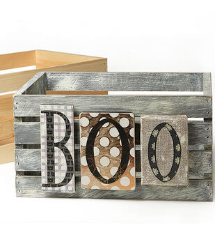 How To Make A Halloween Crate BOO