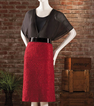 Black Chiffon Blouse with Lace Fitted Holiday Skirt