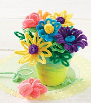 Chenille Flower Pot Arrangement