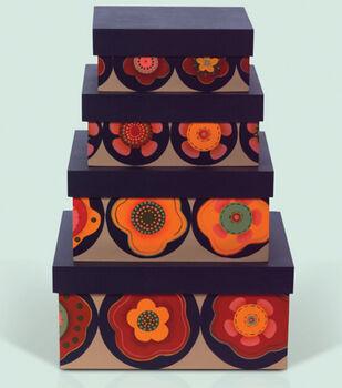 Applique-Look Stenciled Boxes