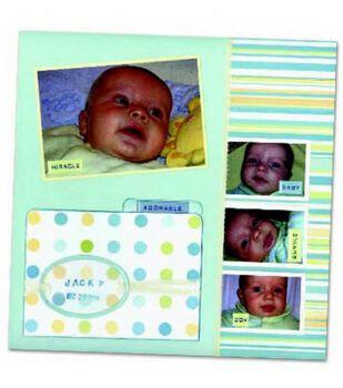 Beautiful Baby Scrapbook Page