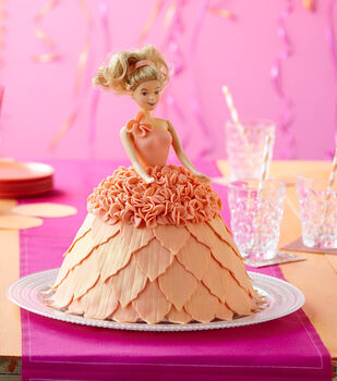 Doll In Orange Dress Cake