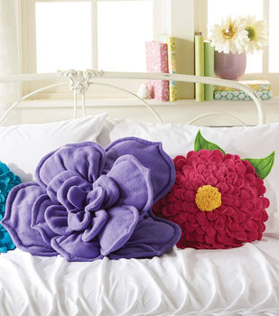 Fleece Flower Pillows