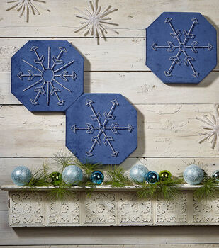 How To Make Snowflake String Art