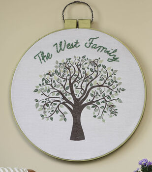 Square By Design® Embroidery Hoop Wall Art