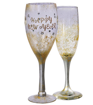 Painted Champagne Flutes