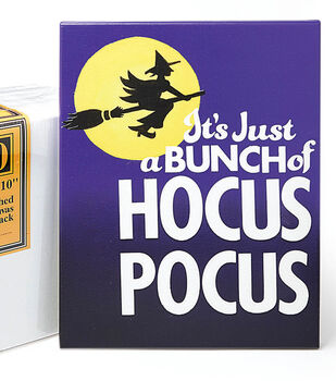 """How To Make A 11"""" x 14"""" Canvas with """"Hocus Pocus"""""""