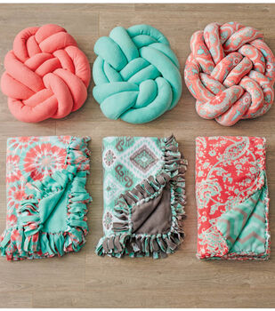 Knotted Fleece Pillow