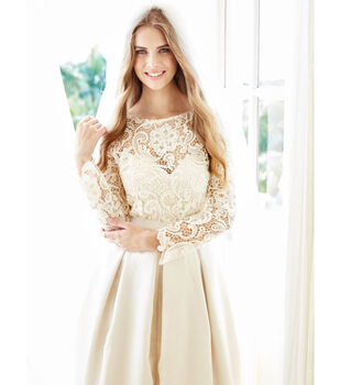 Bridal Gown with Heavy Lace Top