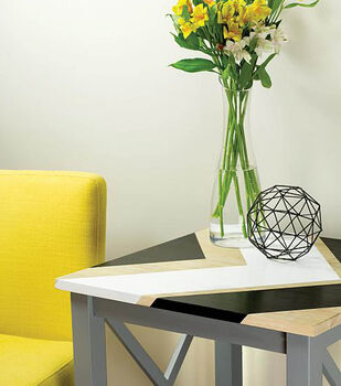 How To Make A Geometric Tabletop with Raw Wood
