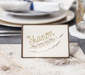 How To Make A Feather Place Card