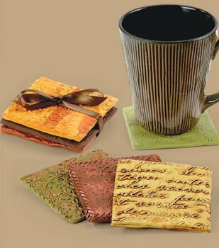 Embossed Clay Coasters